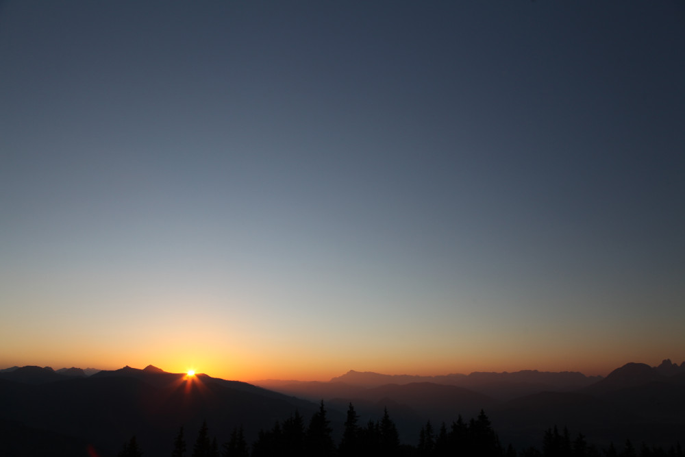 ...Sonnenuntergang Planai...