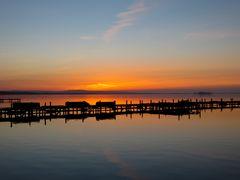 Sonnenuntergang Promenade Steinhuder Meer