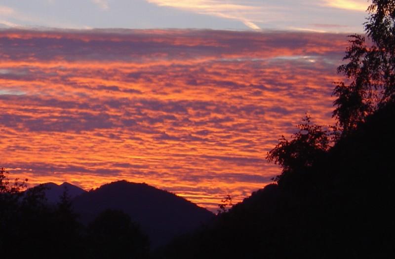 Sonnenuntergang Ramsau