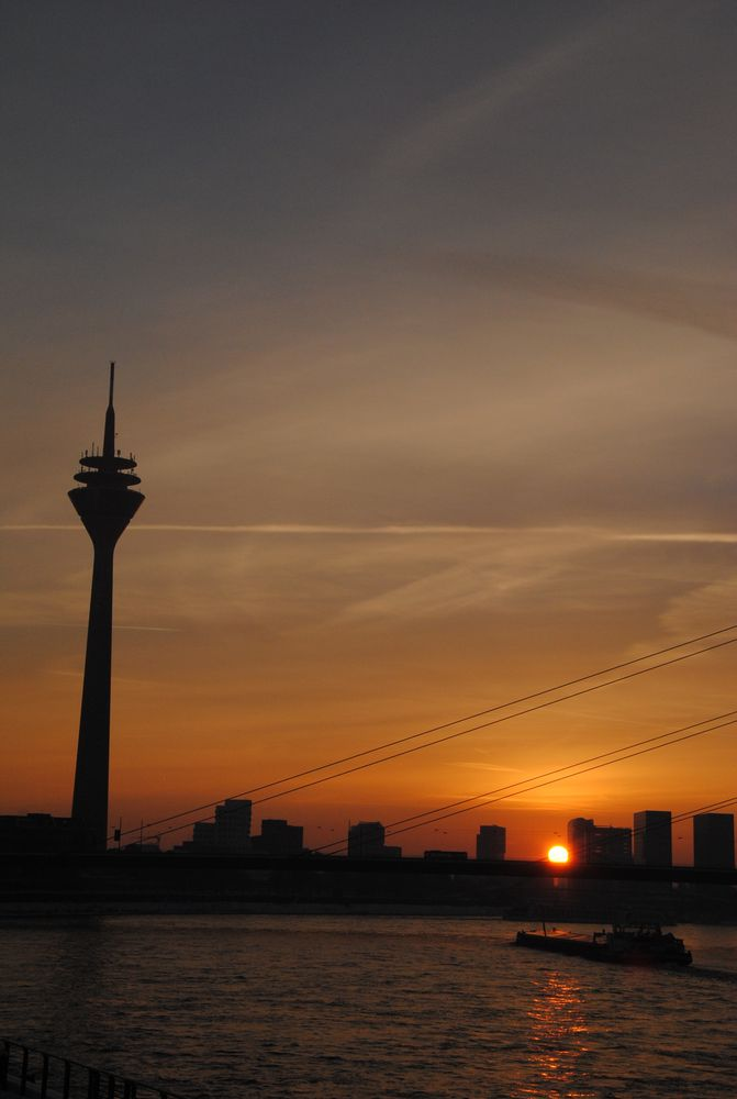 Sonnenuntergang Rheinufer