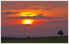 Sonnenuntergang Saargau