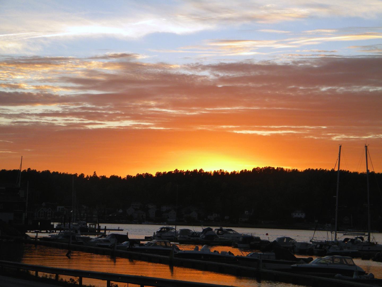 Sonnenuntergang Sandefjord/Norwegen
