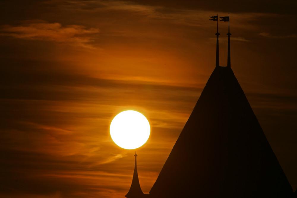 Sonnenuntergang Schloss Worb Nr.3