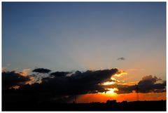 Sonnenuntergang ,schöner Urlaub an der Ostsee..