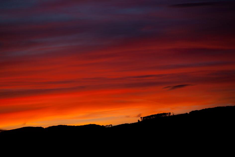 Sonnenuntergang Schweiz Zofingen