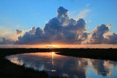 Sonnenuntergang Skjern Enge