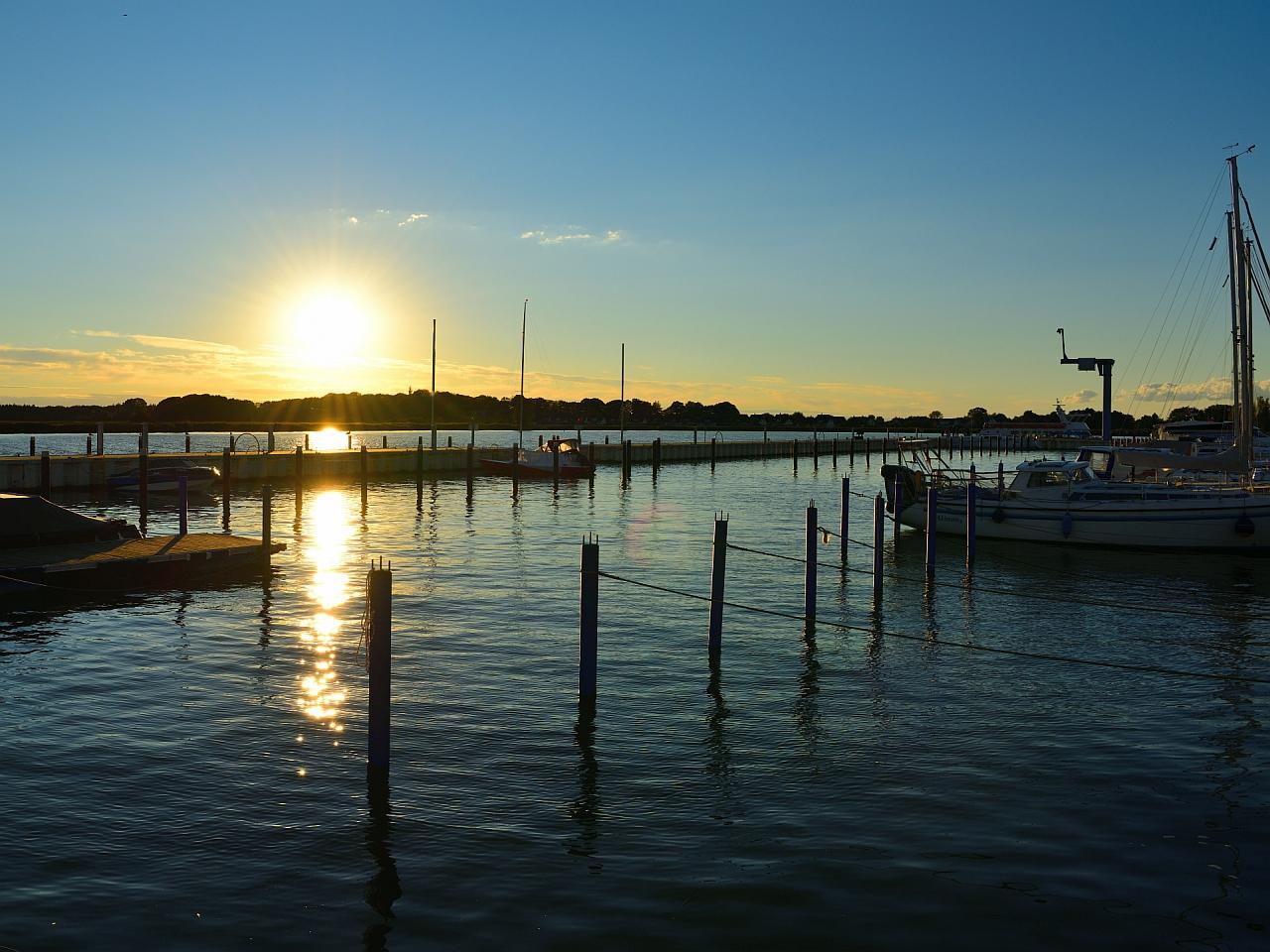 Sonnenuntergang, Sunset,   puesta de sol, Achterwasser, Usedom 1