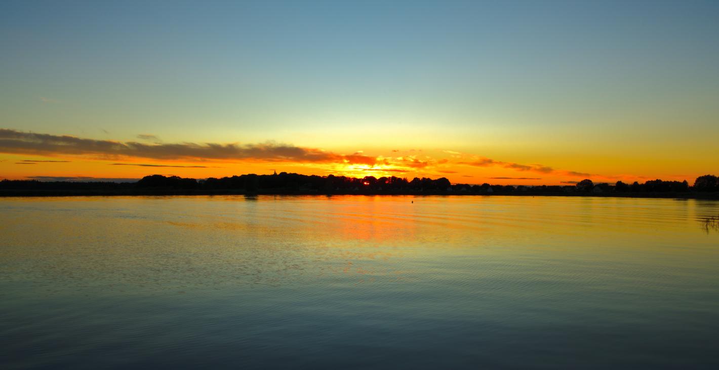 Sonnenuntergang, Sunset, puesta del sol, Achterwasser, Usedom 2