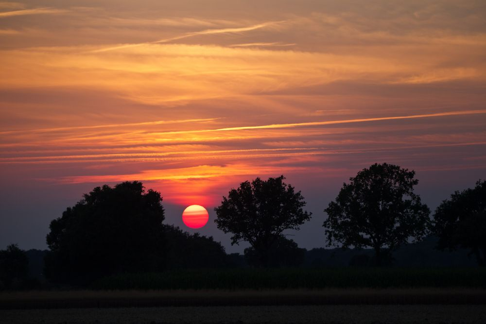 Sonnenuntergang / sunset ... unbearbeitet ...