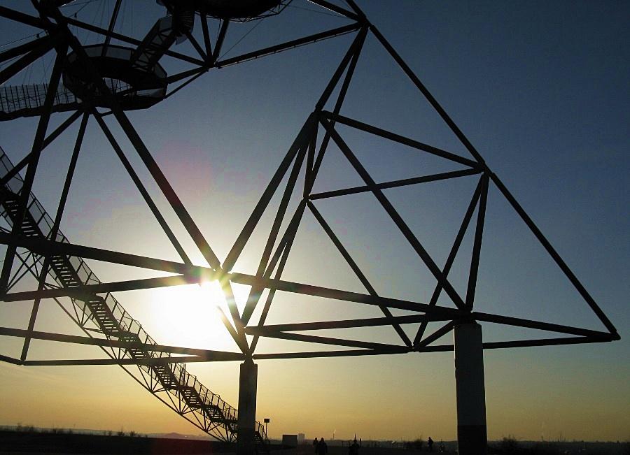 Sonnenuntergang Tetraeder