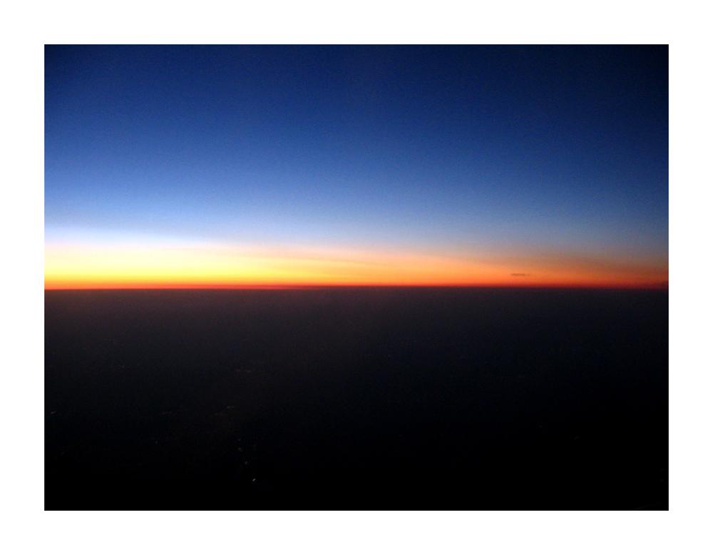 Sonnenuntergang über Afrika