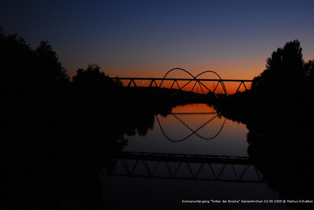 Sonnenuntergang über Amphitheater in Gelsenkirchen