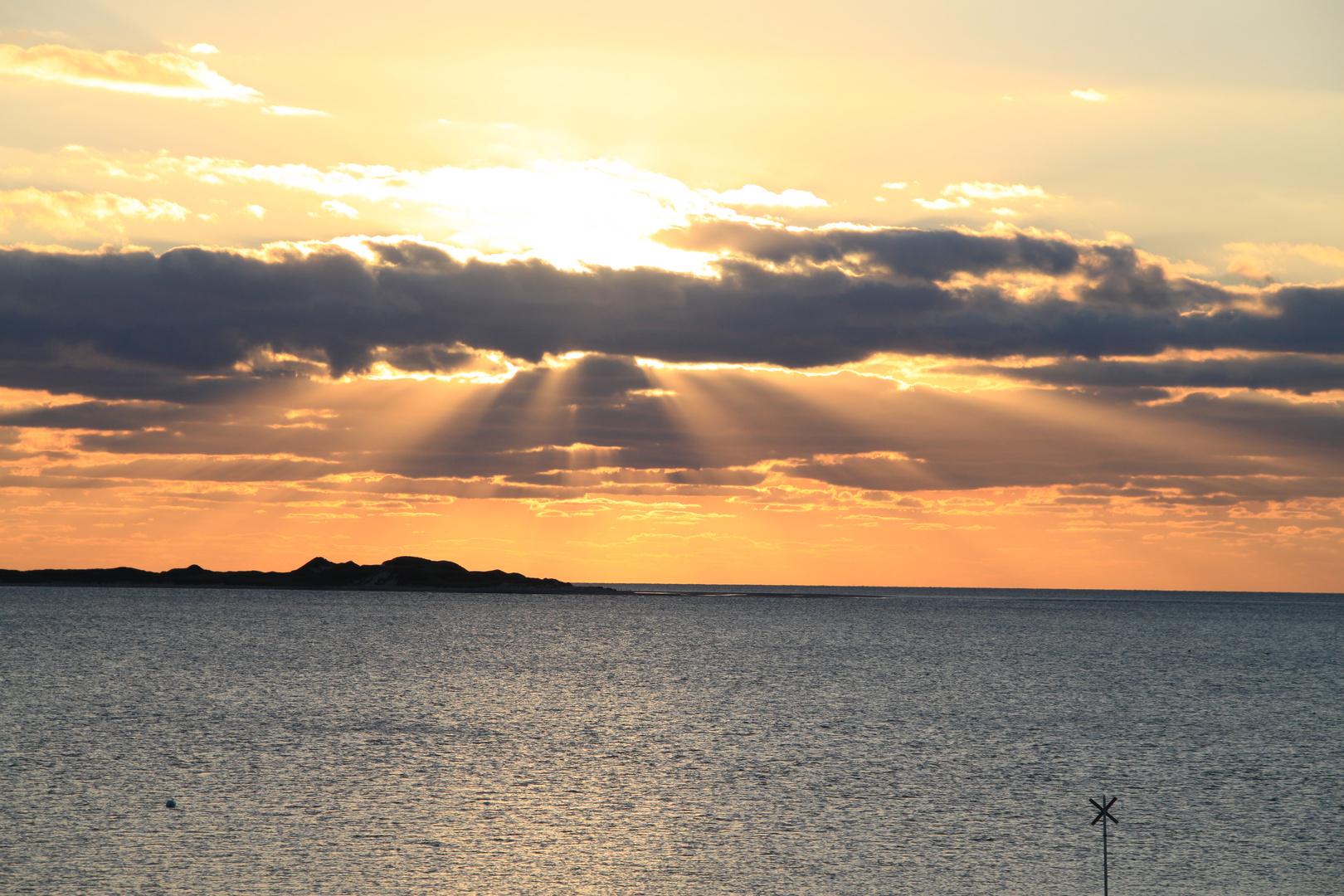 Sonnenuntergang über Amrum Odde