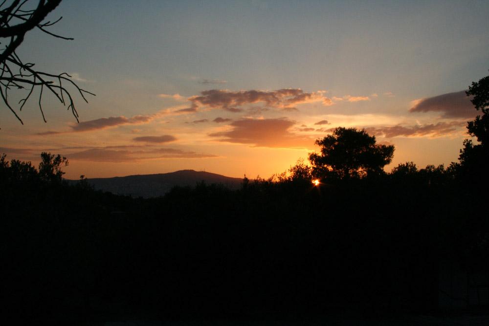 Sonnenuntergang über Athen