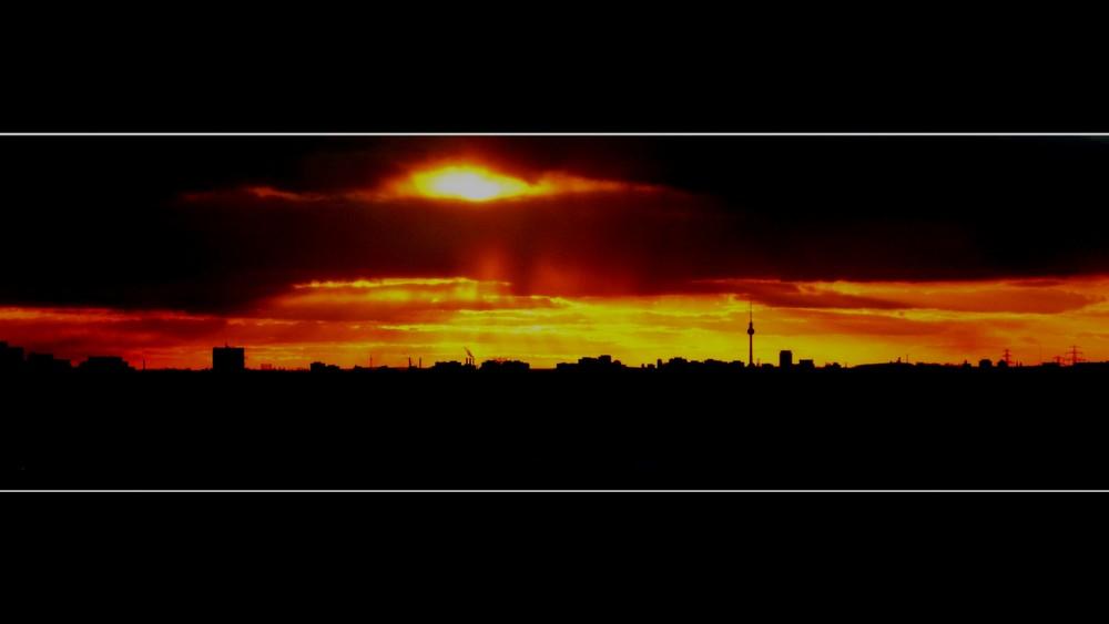 Sonnenuntergang über Berlin (bearbeitet)