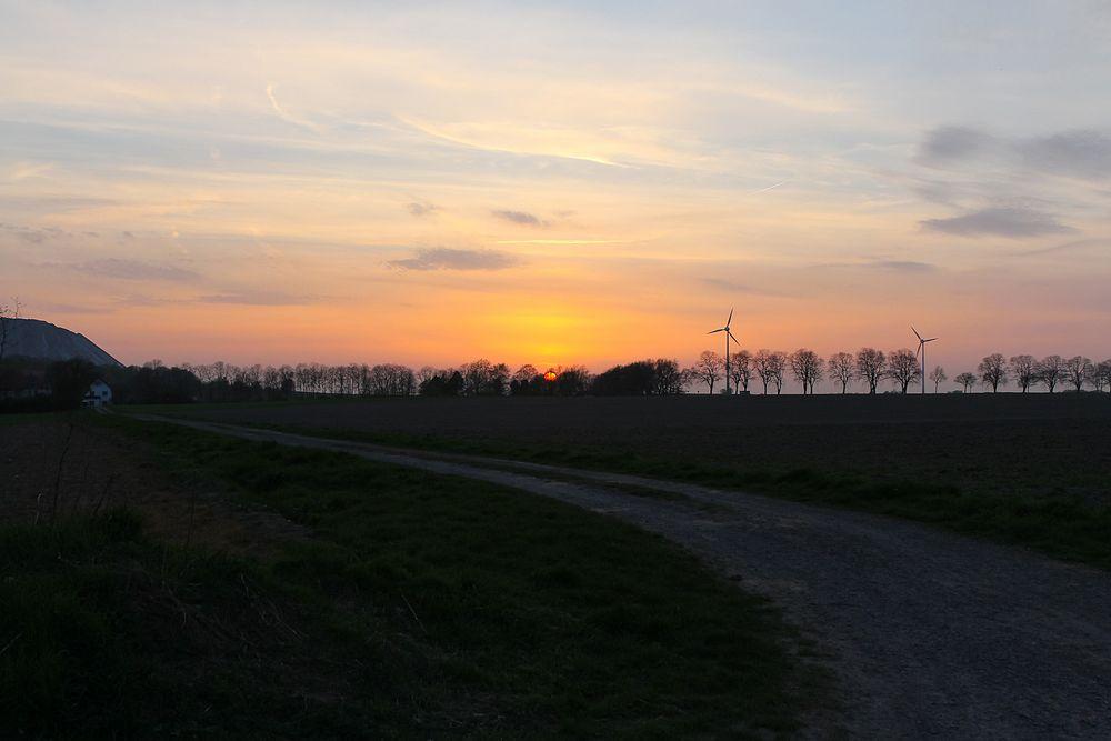 Sonnenuntergang über Bokeloh #2