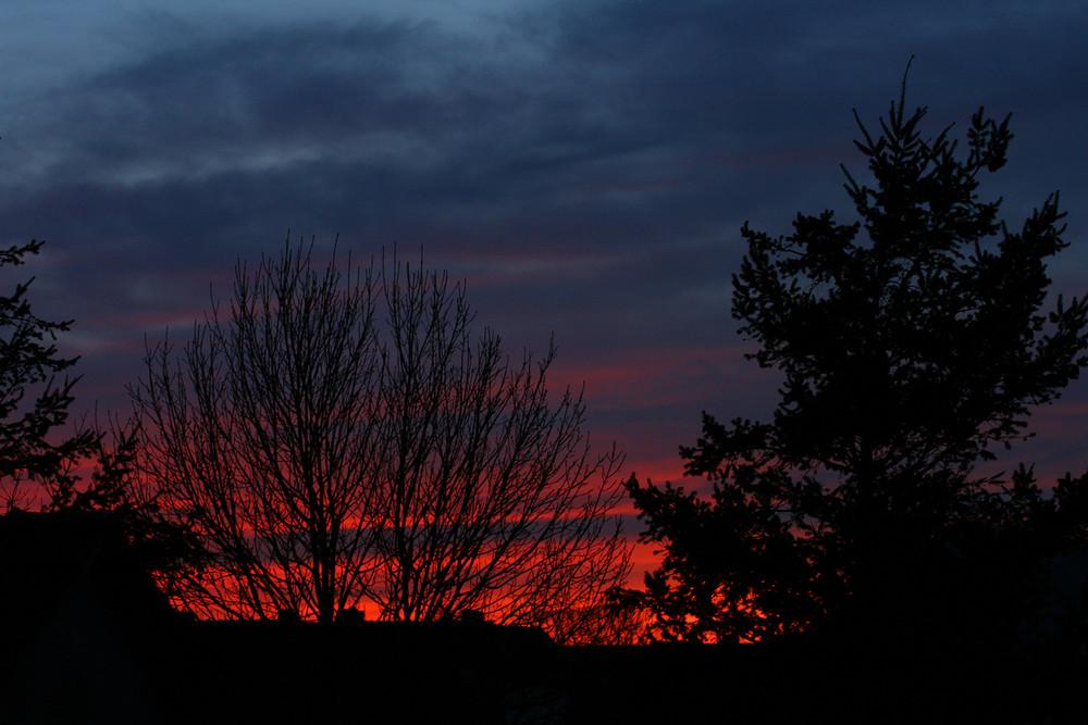 Sonnenuntergang über Bokeloh (Wunstorf)