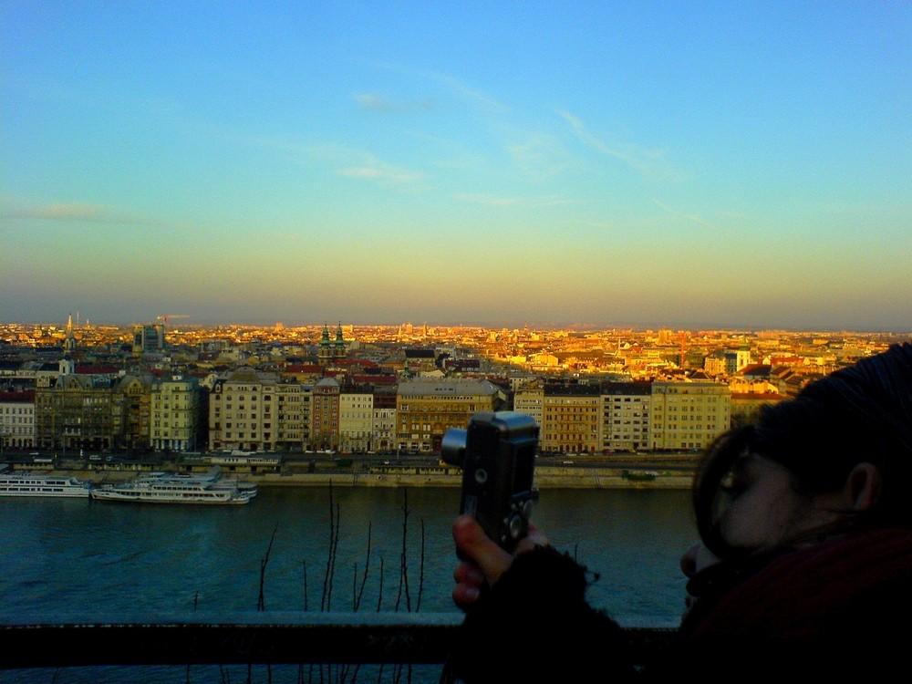 Sonnenuntergang über Budapest