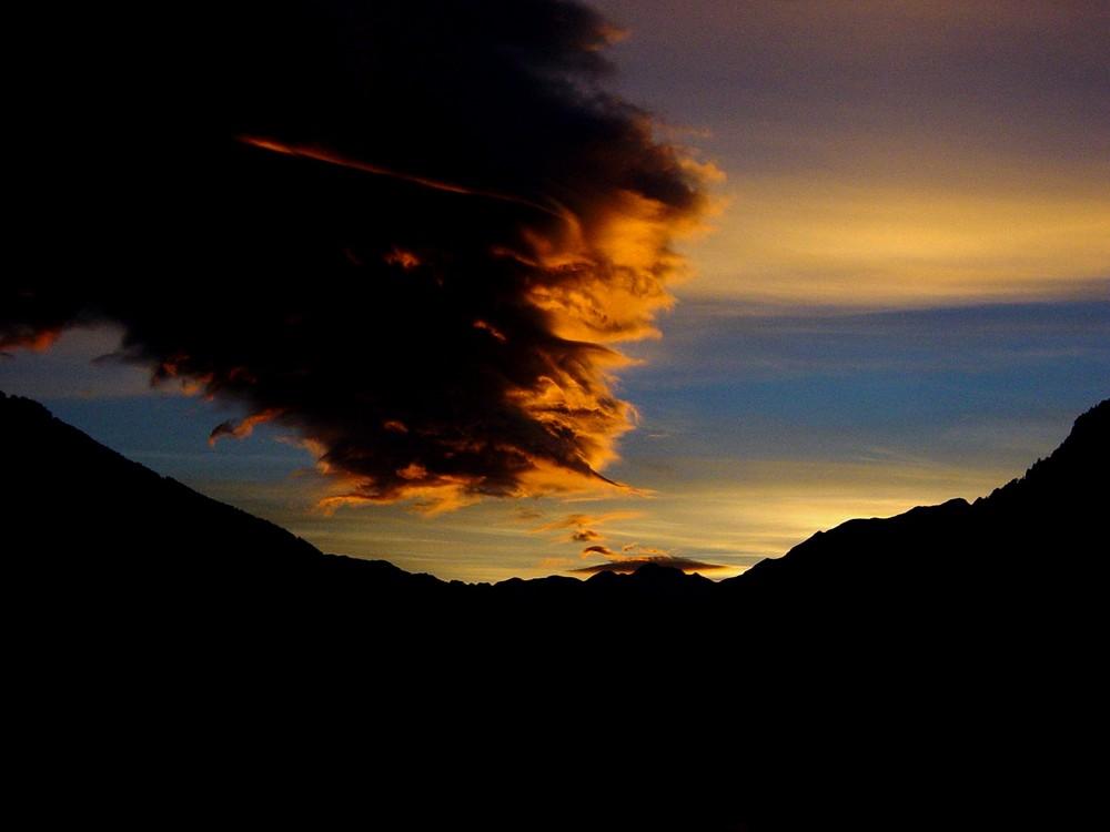 Sonnenuntergang über dem Ahrntal
