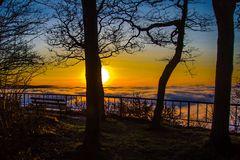 Sonnenuntergang über dem Moseltal