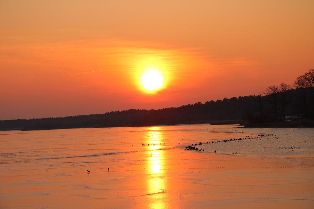 Sonnenuntergang über dem Rothsee 2