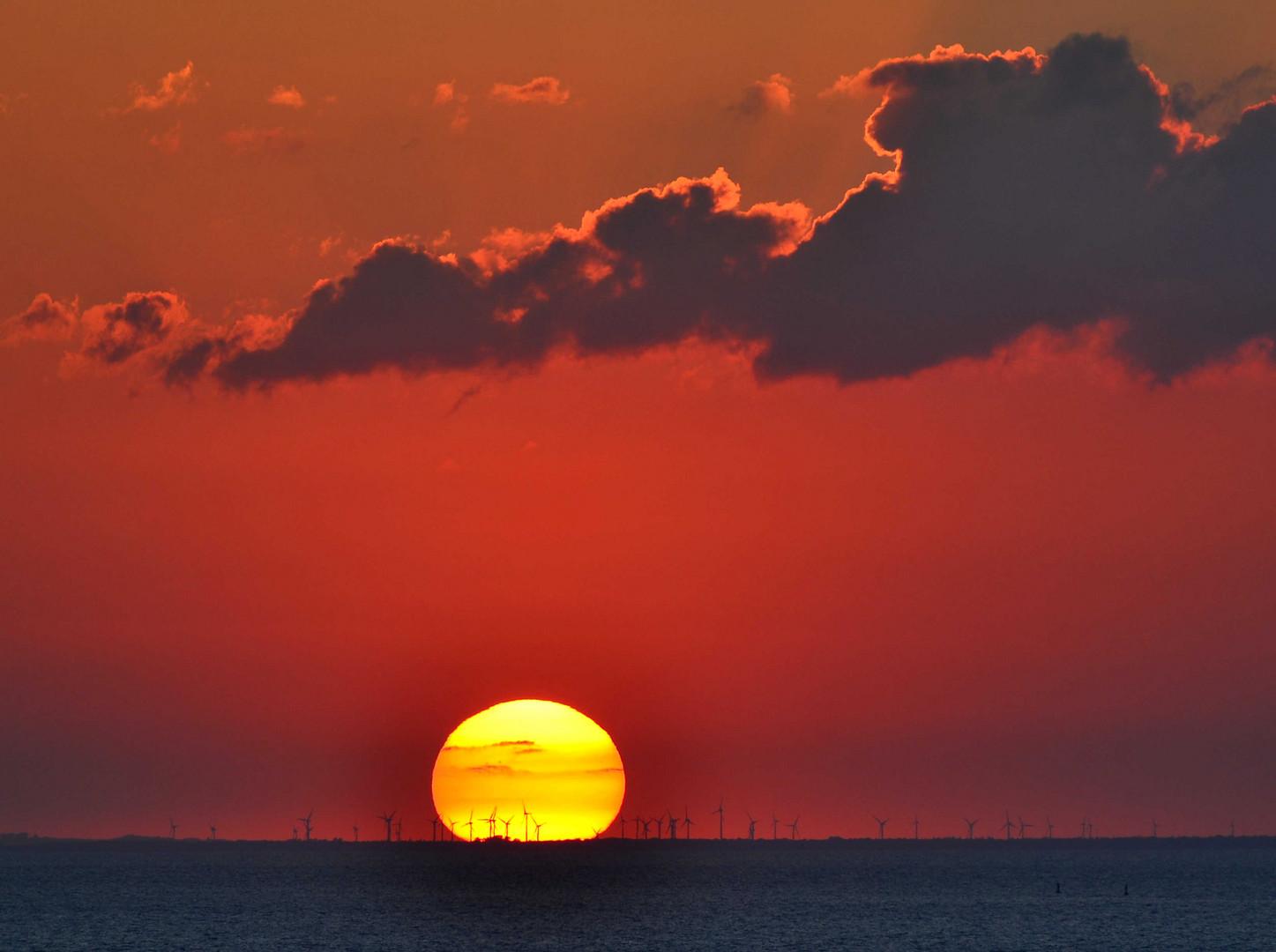 Sonnenuntergang über dem Salz Haff bei Rerik