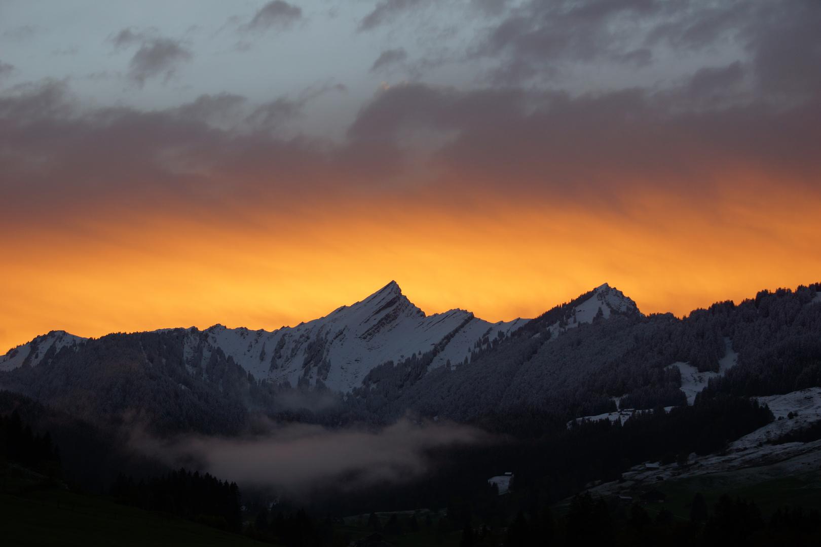 Sonnenuntergang über dem Speer