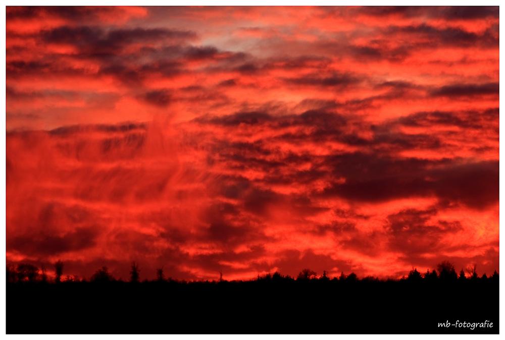 Sonnenuntergang über dem Steinbachtal