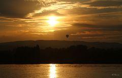 Sonnenuntergang über dem Untersee/Bodensee