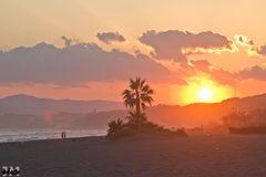 Sonnenuntergang über den Ausläufern der Sierra Nevada