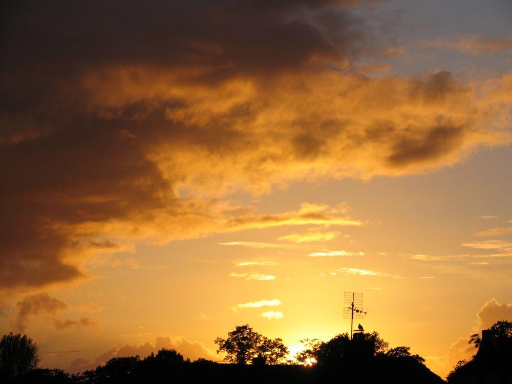 Sonnenuntergang über den Dächern Oldenburgs