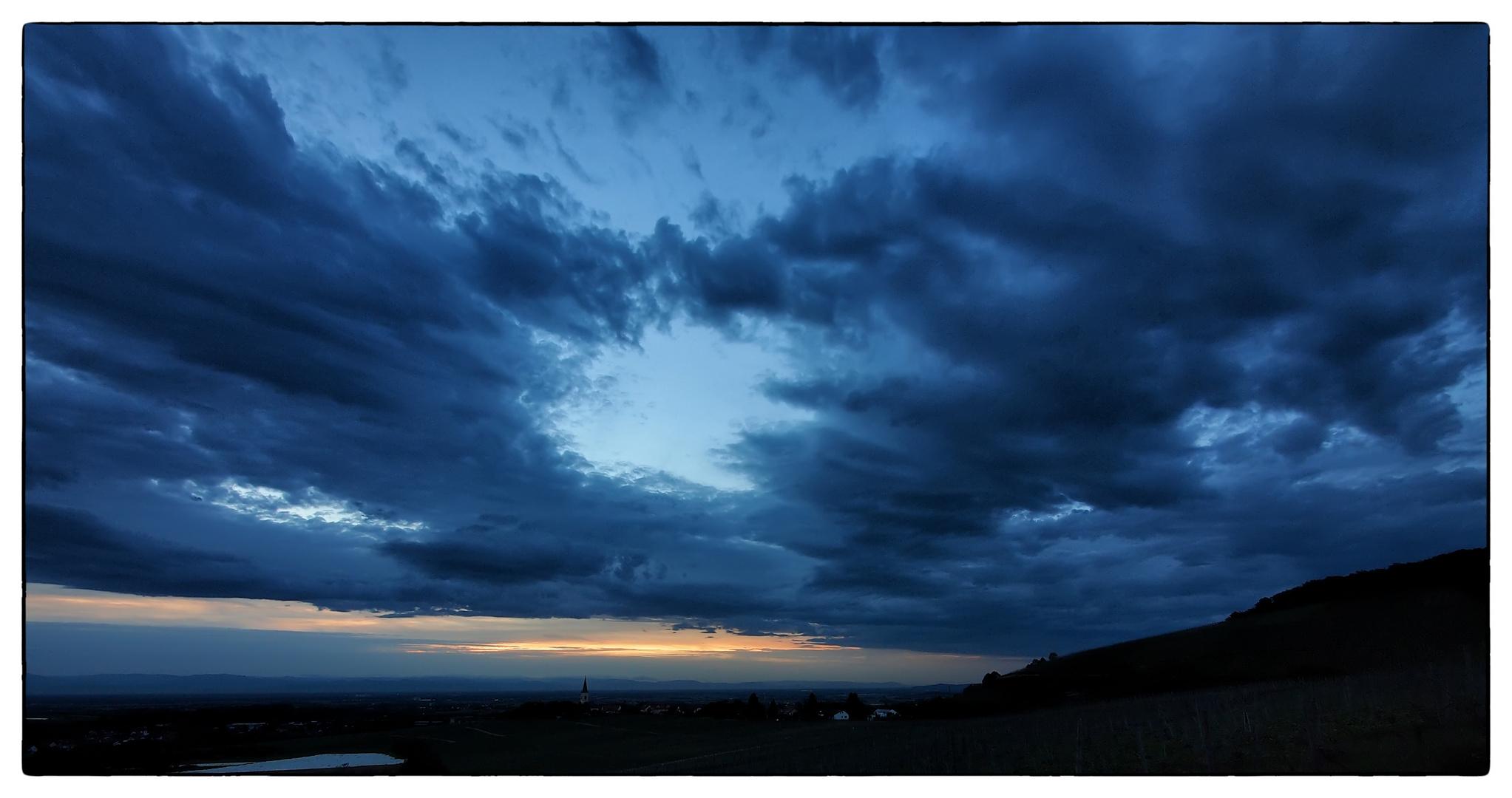 Sonnenuntergang über den Vogesen 2