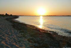 Sonnenuntergang über der Eckernförder Bucht