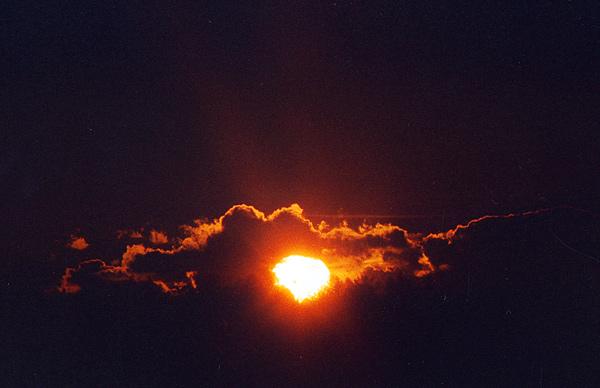 Sonnenuntergang über der Hahnweide