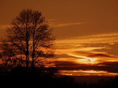 Sonnenuntergang über der Heimbachsiedlung
