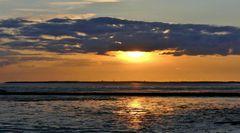 Sonnenuntergang über der Insel Föhr, Nordsee