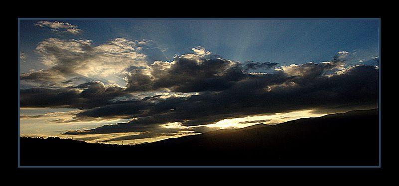 Sonnenuntergang über der Maiskogel in Kaprun