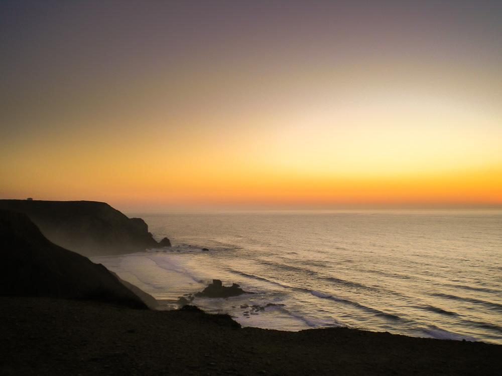 Sonnenuntergang über der Praia da Cordoama