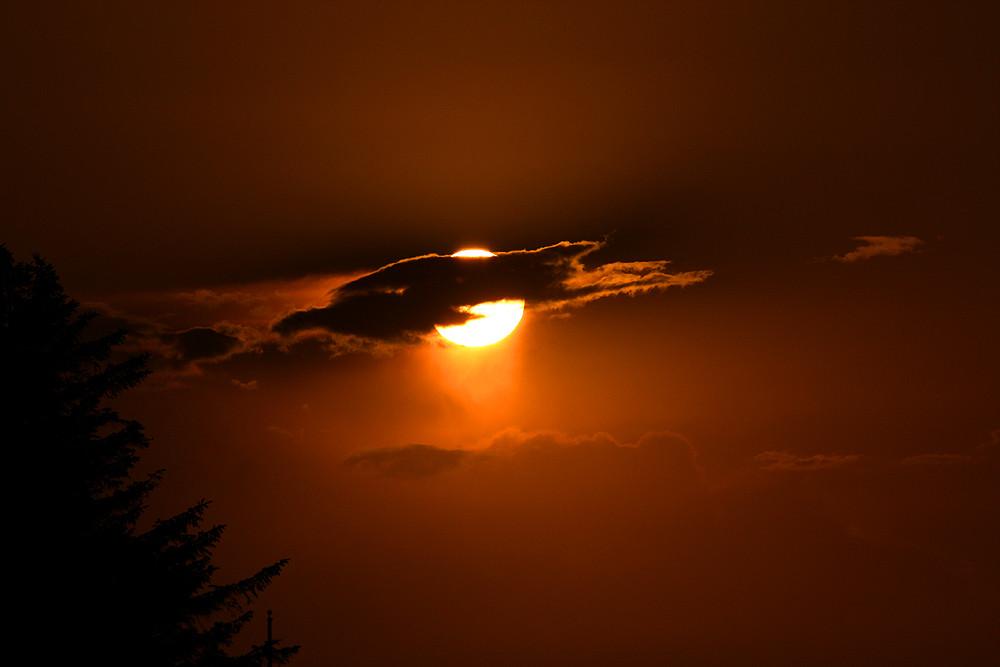 Sonnenuntergang über Fehmarn