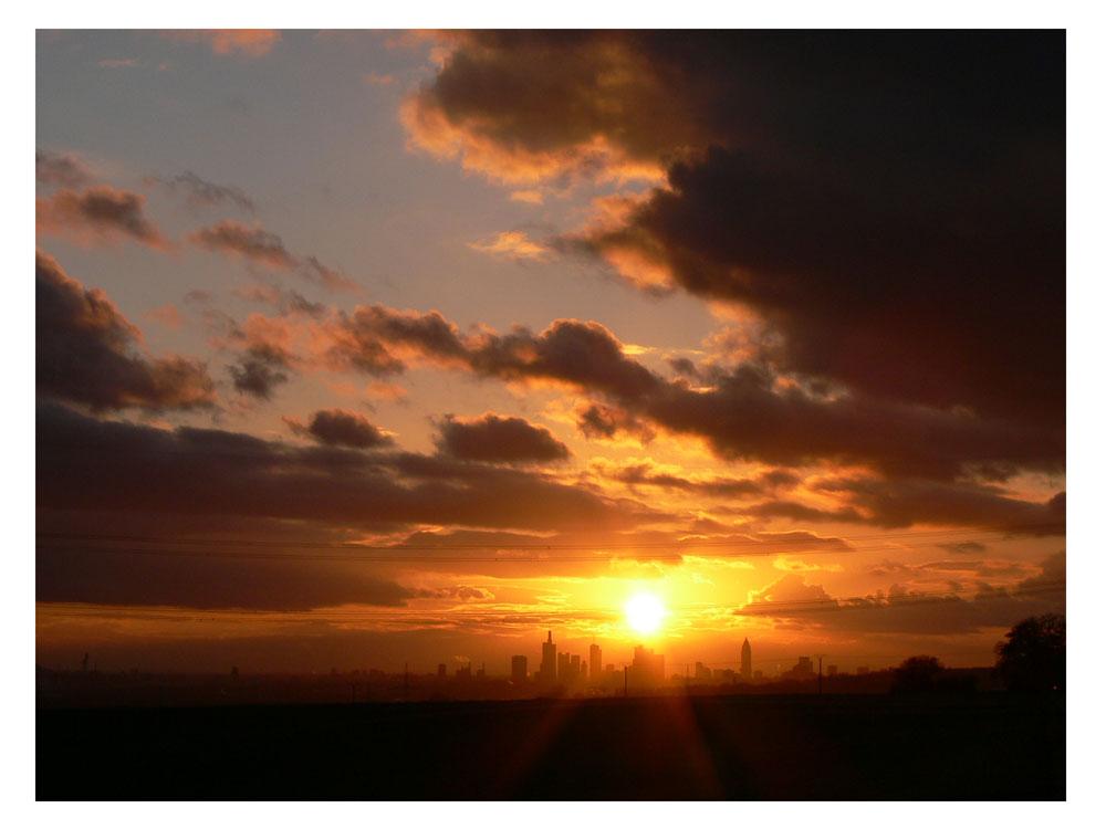 Sonnenuntergang über Frankfurt 02