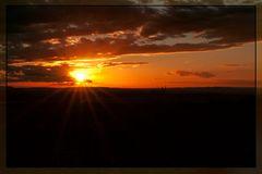 Sonnenuntergang über Gerolzhofen