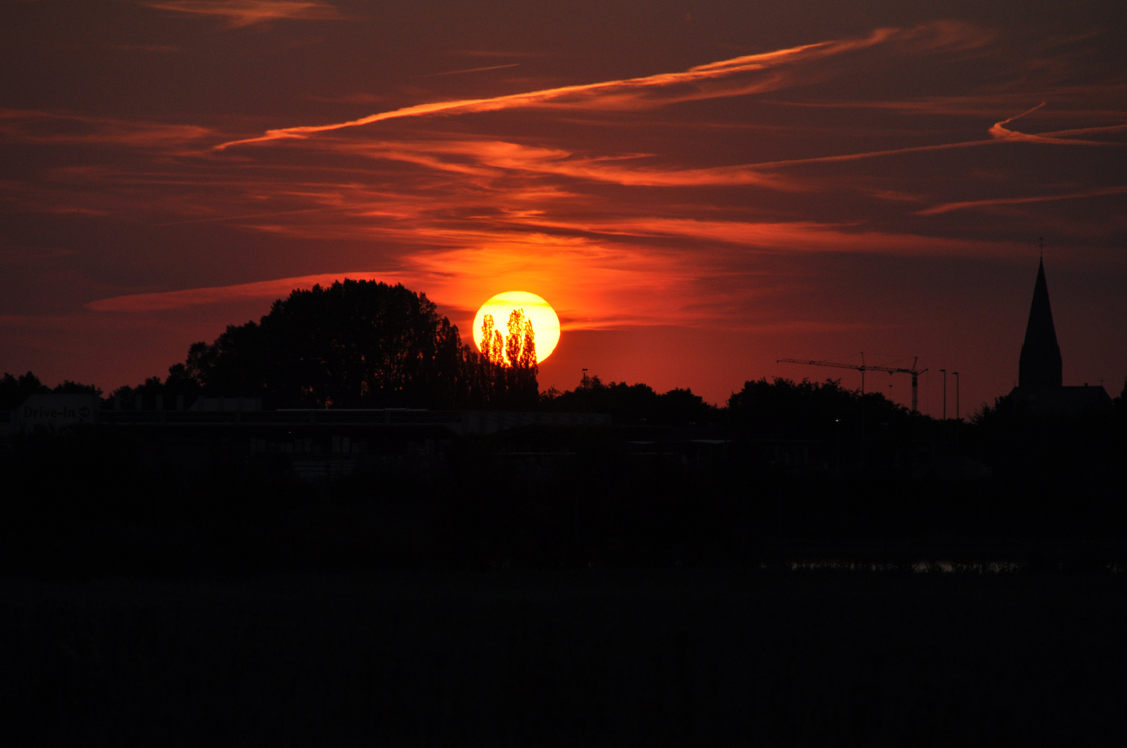 Sonnenuntergang über Goch