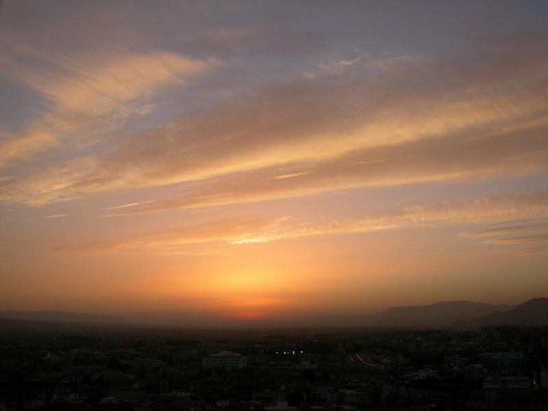 Sonnenuntergang über Granada