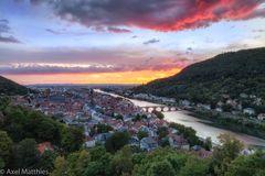 Sonnenuntergang über Heidelberg 2