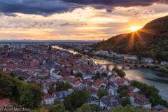 Sonnenuntergang über Heidelberg
