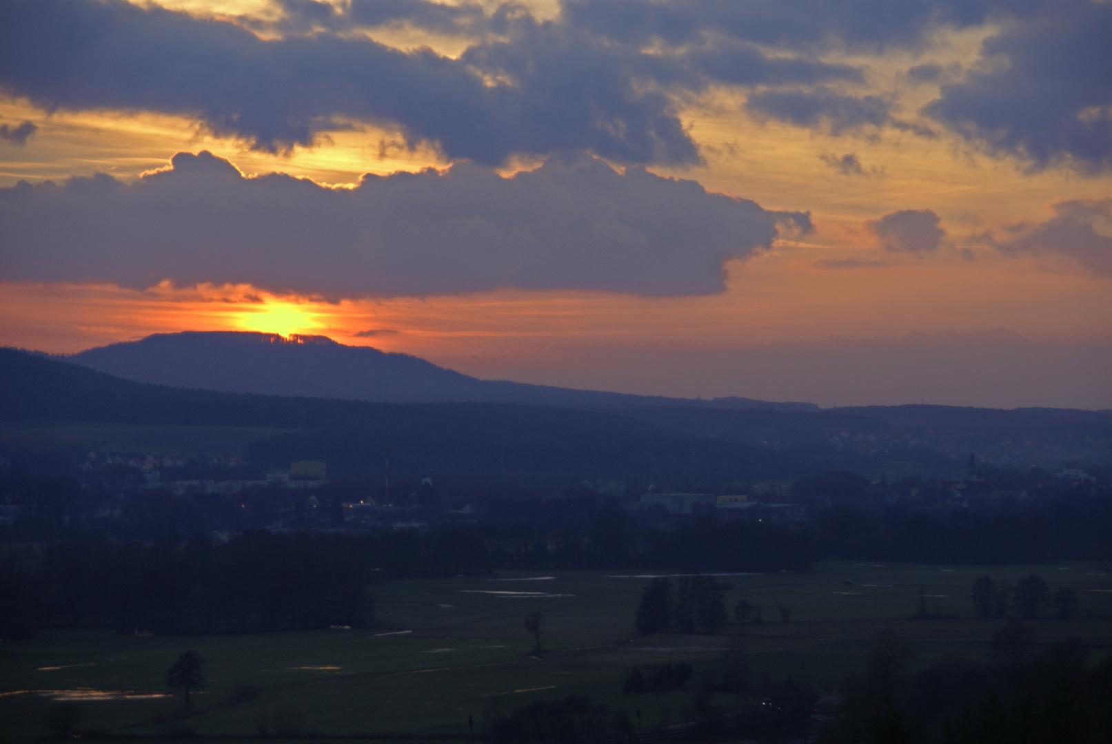 Sonnenuntergang über Hersbruck