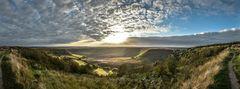 "Sonnenuntergang über ""Hole of Horcum"", North York Moors National Park"