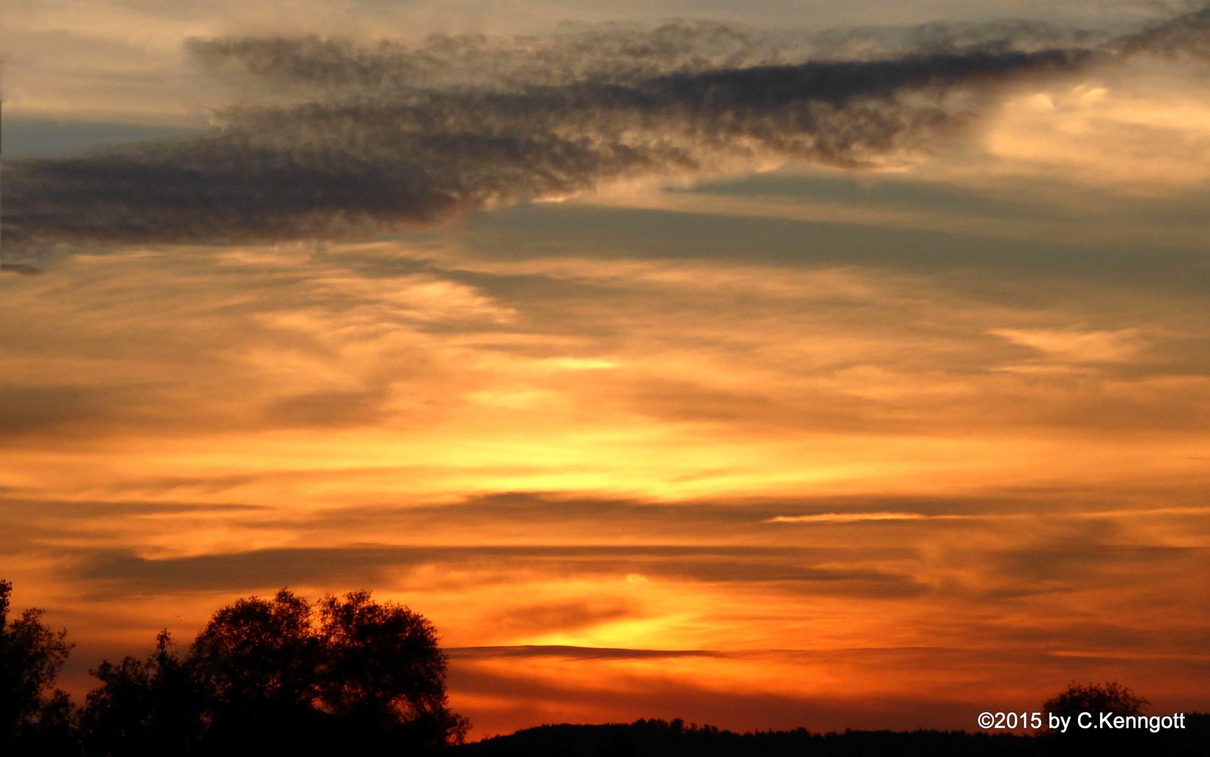 Sonnenuntergang über Kochel
