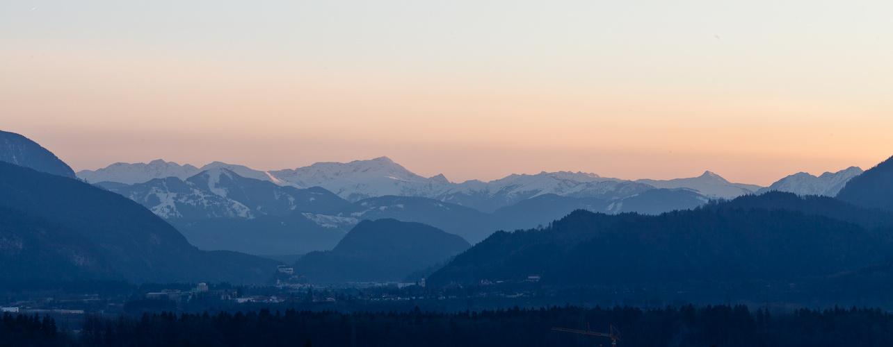 Sonnenuntergang über Kufstein ...