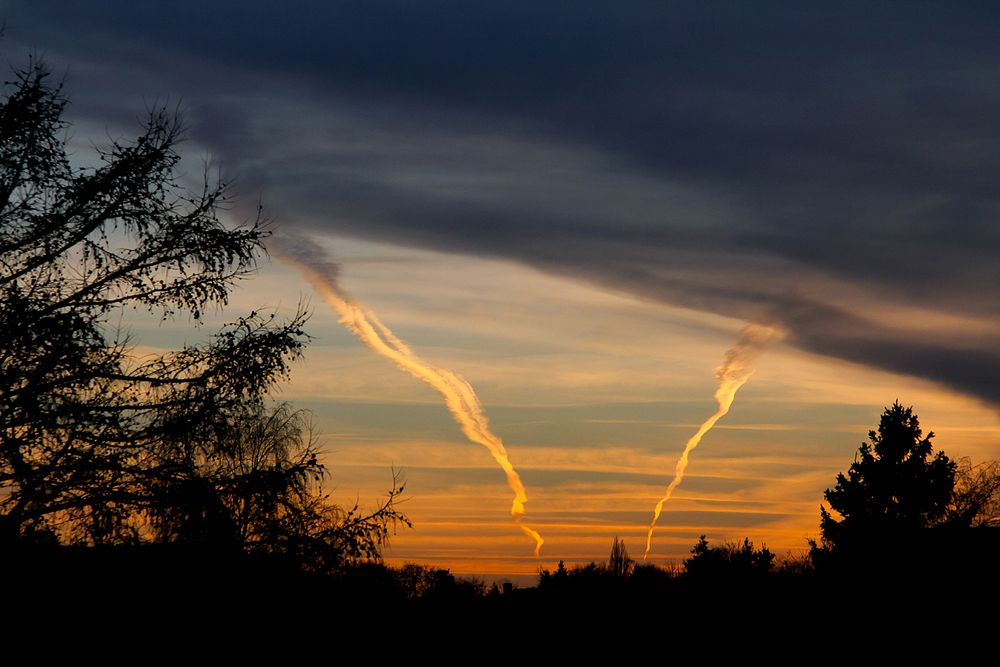 Sonnenuntergang über Loccum